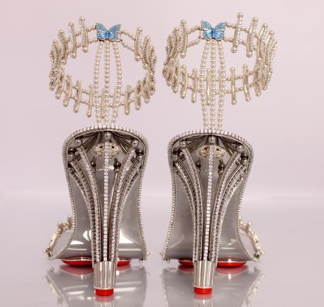 chaussure Beyoncé or diamant